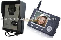 3.5 inch LCD wireless intercom, video door phone with super IR night vision, taking pictures