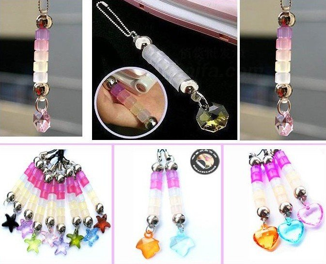 1000pieces/lot Charm Key Chain Ring Holder Cellphone & Handbag Pendant /MP3MP4 mobile phone chain,phone pendant,Phone lanyard33(China (Mainland))