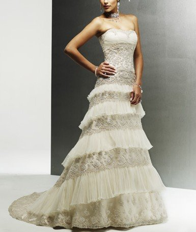 item 227 Free Shipping hot sale special lace great workmanship sleeveless lace up in the back a-line gown wedding dress(China (Mainland))