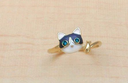 free shipping!Japanese and Korean style accessories, guard cats, cute kittens open rings 10pcs/lot(China (Mainland))