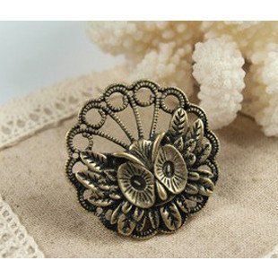 50pcs/lot Best selling ring retro personality anxle owl ring ring exaggeration odd free shipping(China (Mainland))