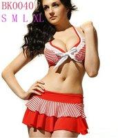 15sets/lot Stripe Pink Sexy Bikini Fashion Swimsuit Bikini Swimwear Bathing suit Free shipping