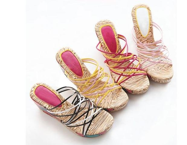 free shipping all ready espadrille wedge sandals shoes, slipper sandals shoes, fashion lovely girls strip sandals shoes(China (Mainland))