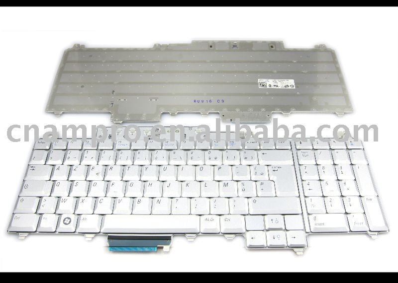 New Notebook keyboard / Laptop keyboards for Inspiron 1720 1721, Vostro 1700, XPS M1730 Silver FR - NSK-D800F(China (Mainland))