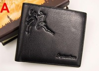 Free shipping.Wholesale.Septwolves man leather wallet .best brand cow hide handbag 393298 393299