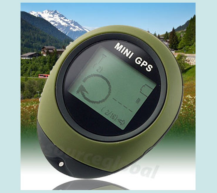 Free shipping 5pcs/lot wholesale Mini GPS, handheld GPS, GPS locator to find Lobo, a high degree of latitude and longitude(China (Mainland))