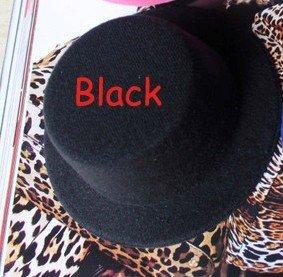 20pcs/lot Black Fascinator Hat Small Top Hat Mini Top Hat #10Color
