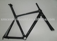Seat Post Integrated Road Bike Carbon Frames, 3k/12k Clear Coat Finish