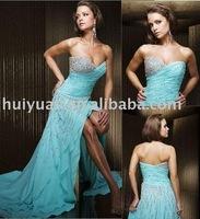 beaded lady dress in blue