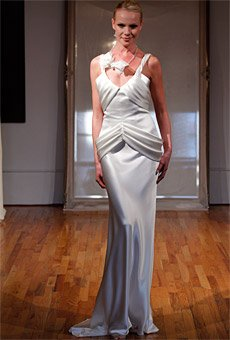 item 273 Free Shipping fashion satin great workmanship spaghetti strp a-line gown wedding dress