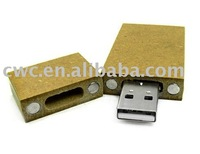 HK post free shipping  Recycled paper usb flash drive
