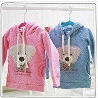 Free shipping 20pcs B2W2 Bear Head Bowtie Sweater/ Toddler clothes/Girl's and Boy's Sweater Kids Coat Kids hoodies Babywear