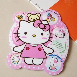 Wholesale Hello Kitty Mouse Pad,Cute & Lovely,High Quality Rubber Mouse Pad ,20 pcs/lot(China (Mainland))