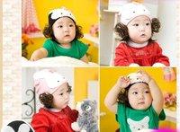 Cotton knitting xiaotu hat wig hat hat children  freeshipping