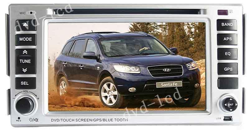 Hyundai New Santa fe car dvd player GPS Bluetooth Ipod HD LCD(China (Mainland))