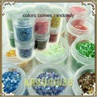 FREE SHIPPING 12 Colors Crushed Shell Powder Nail Art JUMBO JAR SIZE K412