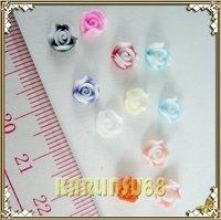 FREE SHIPPING 120pc 3D Rose Nail Art Decoration Acrylic UV Gel Flower K413