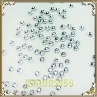 FREE SHIPPING 10000 High Quality 2mm Nail Art Rhinestones Gems Clear K421