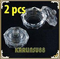 FREE SHIPPING 2x Crystal Dappen Dish Nail Art Acrylic Liquid Powder K427