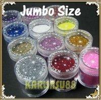FREE SHIPPING 12 Dust Powder Super Shine Glitter Nail Art Jumbo Set K398