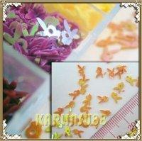FREE SHIPPING 12 Colors Glitter Rabbit Spangles Nail Art Decorations K407