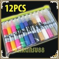 FREE SHIPPING 12 Colors 3D Paint Pen UV Gel Acrylic Nail Art Polish K357