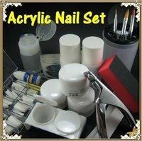 FREE SHIPPING Acrylic Nail Art Professional Full Kit Set Powder Tips K192