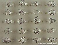 Cute!!wholesale 20pcs 925 Sterling silver mixed design rings,20pcs/lot,Hot!!