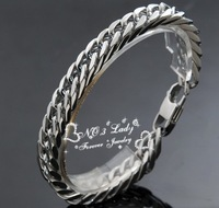 """Free Shipping, 8.6"""" long, 10mm wide, 2013 Mens 316L Stainless Steel Chains Bracelets,for Punk, Rock, Wholesale,WB015"""