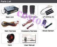 Promotion (Shipping Free)Smartkey PKE passive keyless entry Car alarm system WITH ENGINE START(HOT SALE)