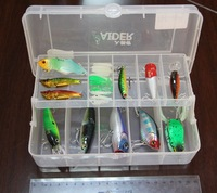 (surprise gift for you) Aider fishing box/fishing tackle/single / 20 cm* 11cm * 6.5cm / transparent/PEC