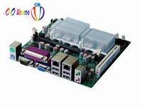 OO Ahome ITX BW27X62A Intel Atom N270,Fanless,6COM,2Giga LAN,VGA+LVDS+S_Video,DDR2, 2SATA+IDE,CF+Mini PCIE,Mini ITX Motherboard
