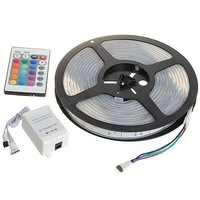 Free Shipping RGB 300x5050 SMD  LED Multicolored Light Strip (5-Meter/DC 12V)