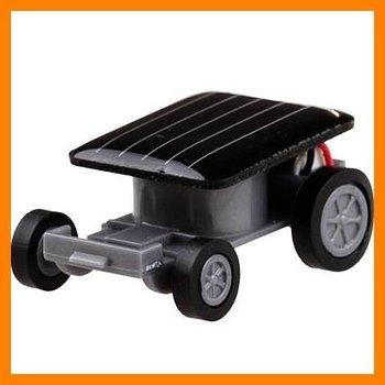 Free shipping 10 pcs/lot Mini Solar Powered Robot Moving Car Toy Gadget christmas toy