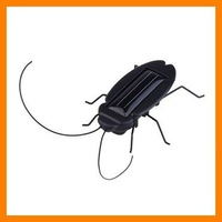 Free shipping 10 pcs/lot Mini Solar Powered cockroach toy