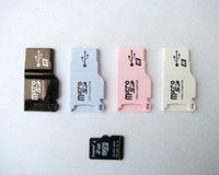 10pcs/lot USB 2.0 Card Reader, Micro SD Card Reader,TF Card Reader,colors enjoy,free shipping