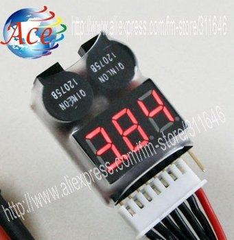 10 pcs RC Model 2in1 8S LiPo Battery LED Tester & Alarm 3.7V-22.2V 3.7V 7.4V 11.1V 14.8V 18.5V 22.2V