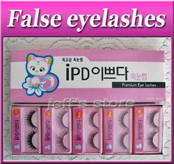 10 PAIRS/Set Mixed Style Black False Eyelashes Extension Eye Lashes fashion fake eyelash with gule(China (Mainland))