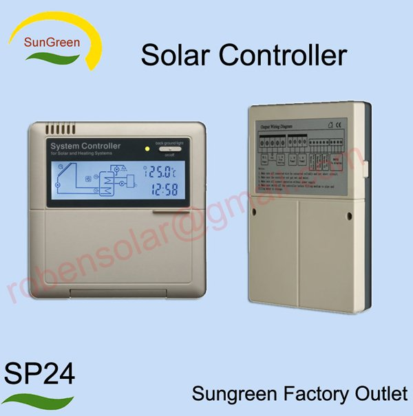 solar collector controller SP24,freesample,2 years warranty,500sets/day,3~5days delivery,retai ...