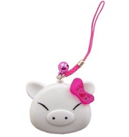 Free shipping  Electronic mini lovely petry pig Kitty cat  design Ultrasonic Mosquito  Repeller  Repellent dispeller& keychain