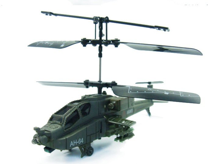 Free Shipping 6in Mini 15cm Syma S012 Apache AH-64 3CH IR RC helicopter with LED Lights Plane Toys(China (Mainland))