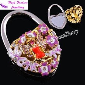 free shipping handbag hanger,fashion handbag hook,folding handbag holder,wholesale handbag hanger with mirror (MOQ:1 piece)