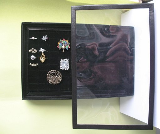 Ring Display Tray Box Jewellery Stand/jewelry display/jewelry hanger/lady shelf(China (Mainland))