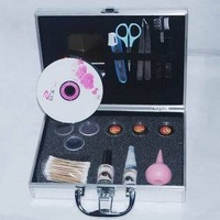 free shipping eyelash extensions kit=15pcs tools