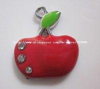 Free Shipping 100pcs zinc alloy enamel red apple charms pendant enamel charms