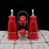 European Style pepper set,salt,Ceramic flavor pot ~ MSG cans, condiment cans, Ceramic Seasoning Pot,10 sets/lot,Free Shipping