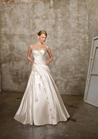 Free shipping new style A-line lace wedding dress/ strapless sexy bridal dress/ wedding gown / bridal dress