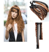 Real photo for  hair pigtail shape band, braid band