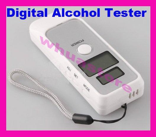 12pcs Free shipping UPS DHL EMS Digital Alcohol Breath Tester Analyzer Breathalyzer LCD Digital alcohol tester with LCD clock(China (Mainland))