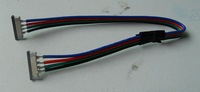 10mm width button connecotor(FPC) with 15cm long cable;used for 5050 RGB strip